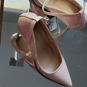 Nude/Cream Ankle Strap Pumps